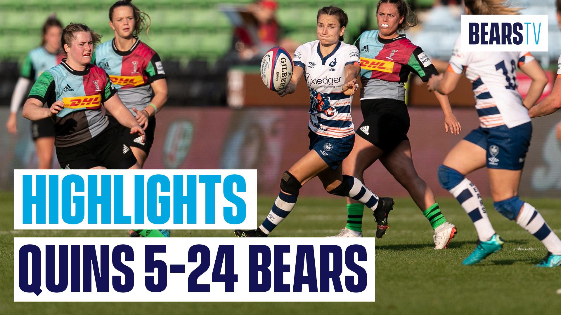 Highlights: Harlequins Women 5-24 Bristol Bears Women